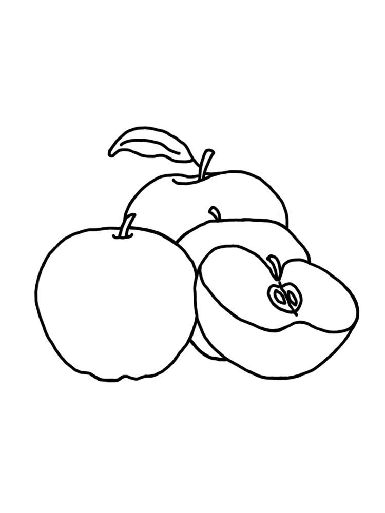 Apple Coloring Pages For Preschoolers Free Apples Are One Of The Fruits That Many People Like Apart From Its Taste It Halaman Mewarnai Gambar Buku Mewarnai