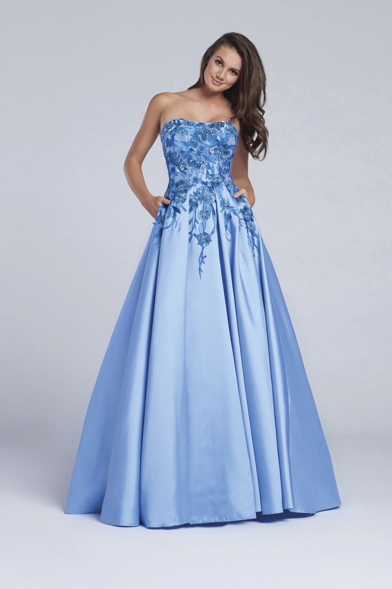 EW117167 | Floral prom dresses, Lace crop tops and Teal