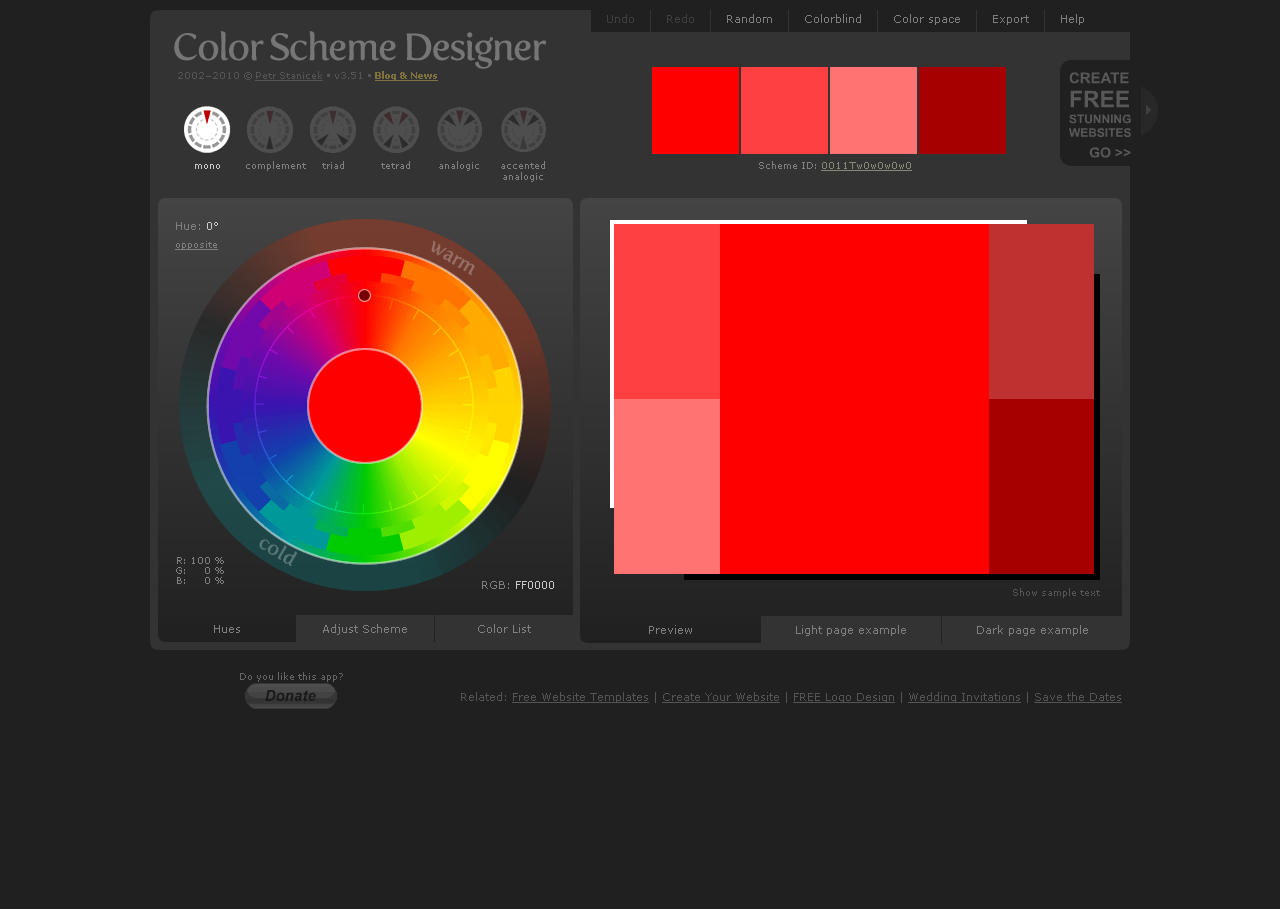 Color Scheme Designer 3 | Web Design (2013) | Pinterest
