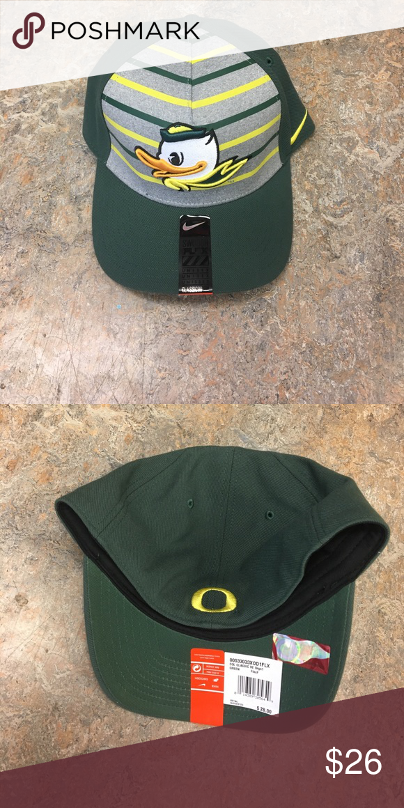 Oregon Ducks Nike Verbiage Flex Fit Hat Cap Brand new with tags officially  licensed Oregon Ducks 3cb9458895b9