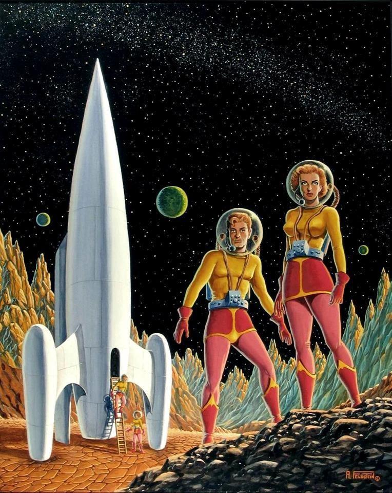 картинки ретро космос