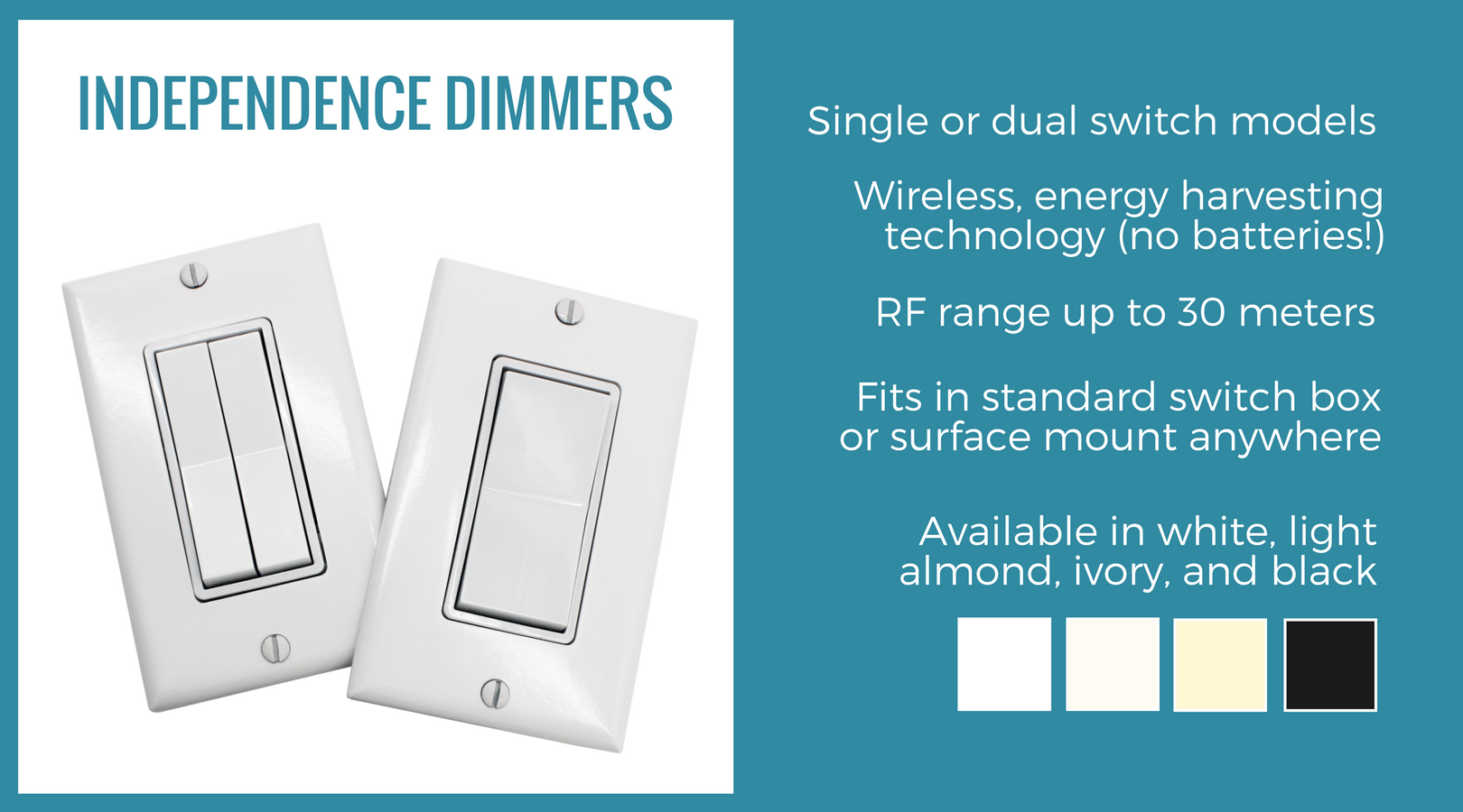 Independence Dimmer Switch 2 0 12v Or 24v Flex Inspired Led Dimmer Dimmer Switch Energy Harvesting