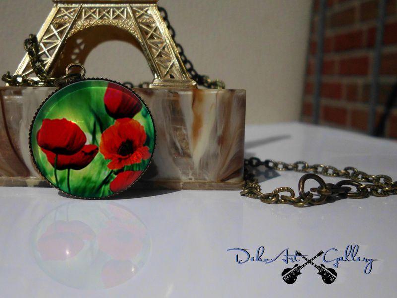 Antik Bronze Kette Mit Anhanger Rote Mohnblumen Von Dekoart Gallery Auf Dawanda Com Wunderschon Mit Bildern Anhanger Kette Mohnblume Kette
