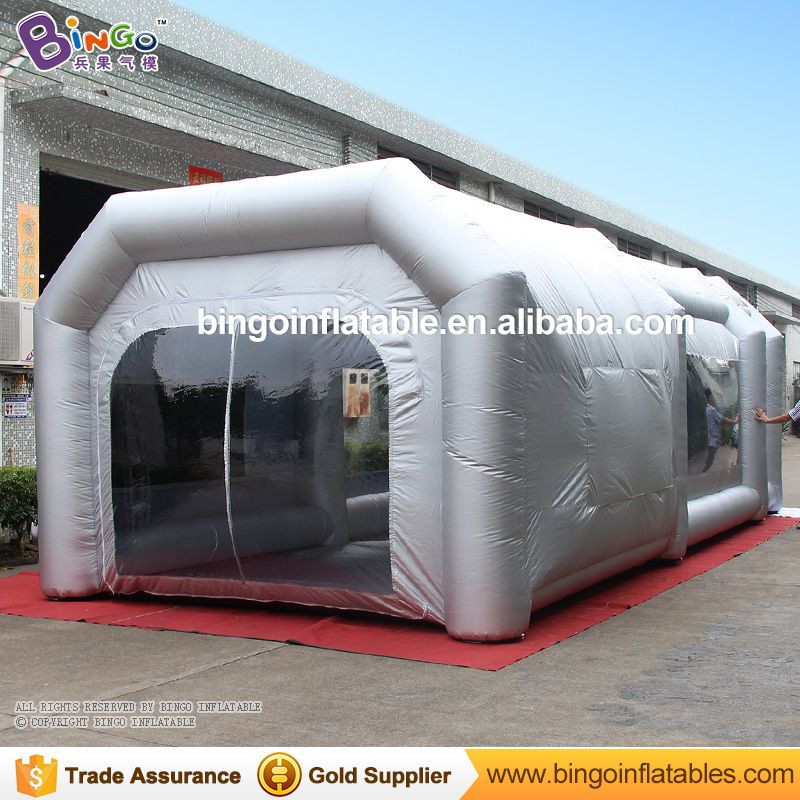 Free Shipping 9x4x3M Light Silgver Color Mobile Inflatable Garage - aufblasbare mobile badezimmer