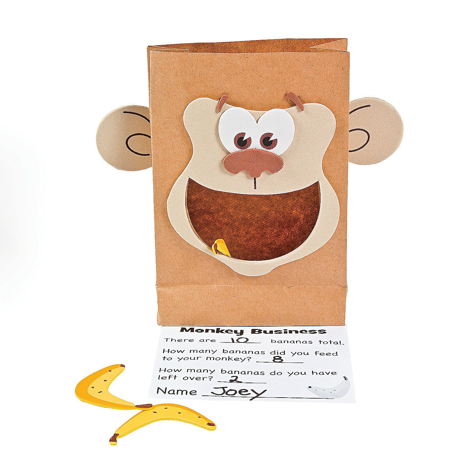 Monkey Marketplace Counting Craft Kit