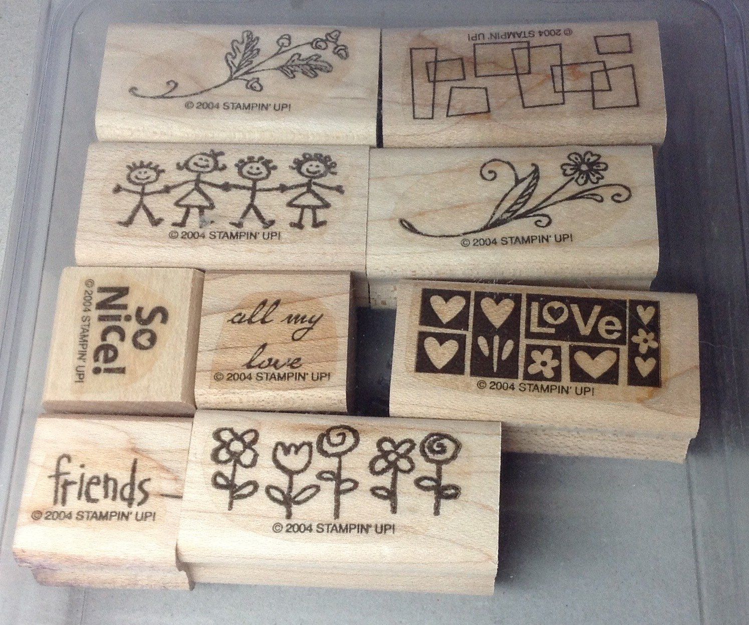 wedding thank you cards time limit%0A      Stampin u     Up  Smorgasborders Stamp Set  Retired