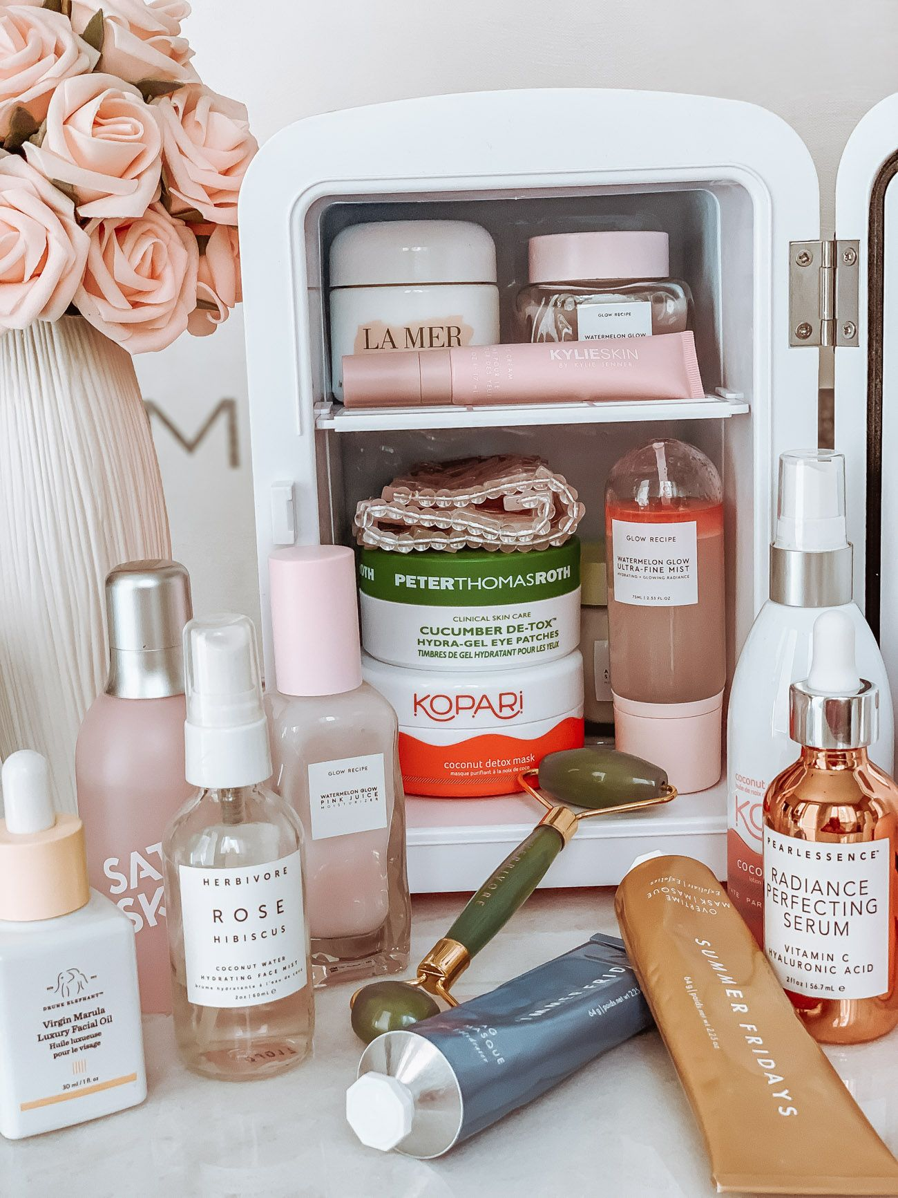 Skincare Fridge Essentials Do You Have One Yet Blondie In The City Fridge Essentials Skin Care Essentials Beauty Skin Care