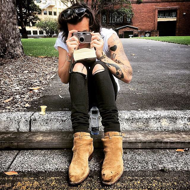Harry with cameras though