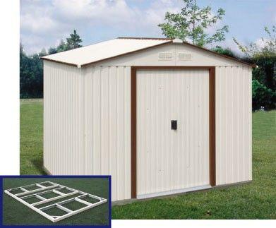 Duramax Titan Metal Shed 8x6 - Brown Trim (free floor kit