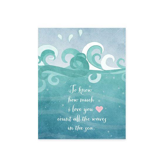 Nursery Quote Art Print Ocean Waves by MooseberryPaperCo on Etsy