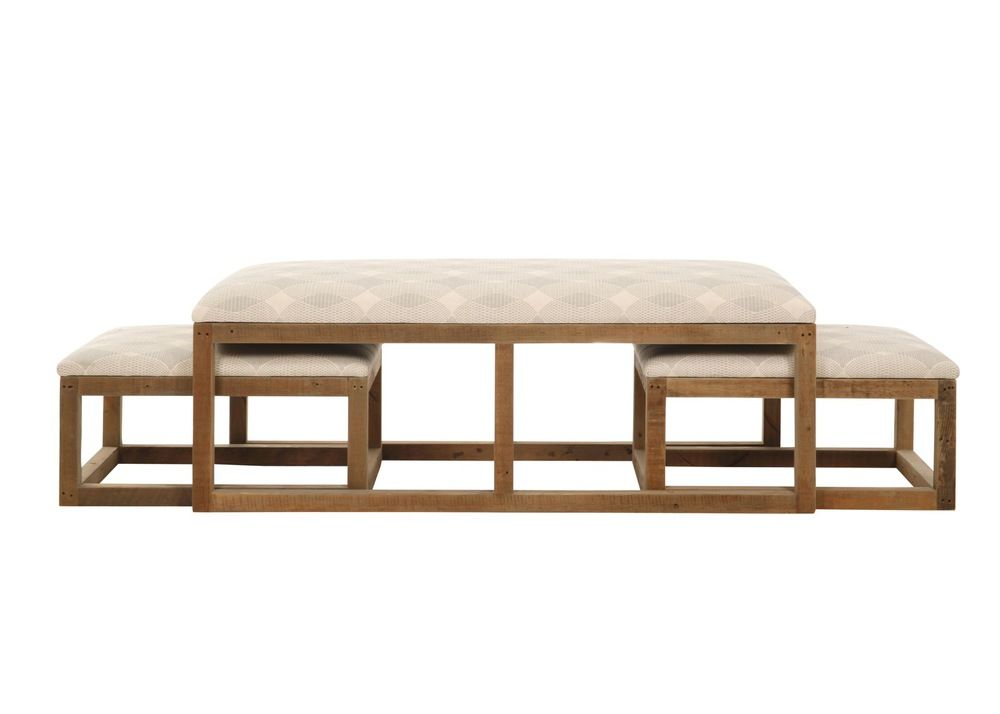 Super Stansbury Coffee Table Bench With Nesting Ottomans Beach Uwap Interior Chair Design Uwaporg