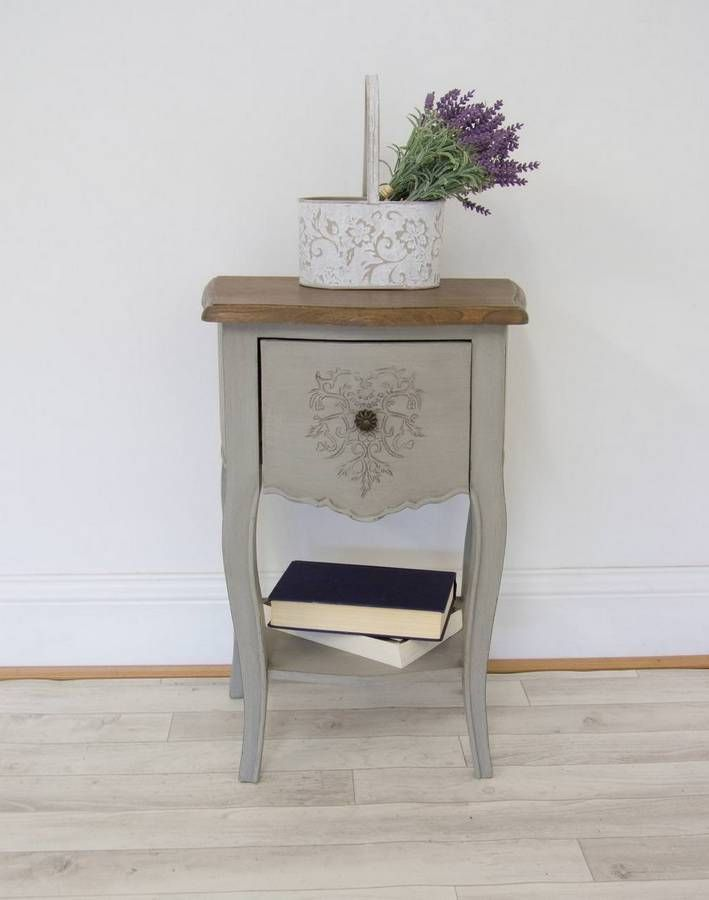French Style Heart Bedside Table Furniture, Sustainable