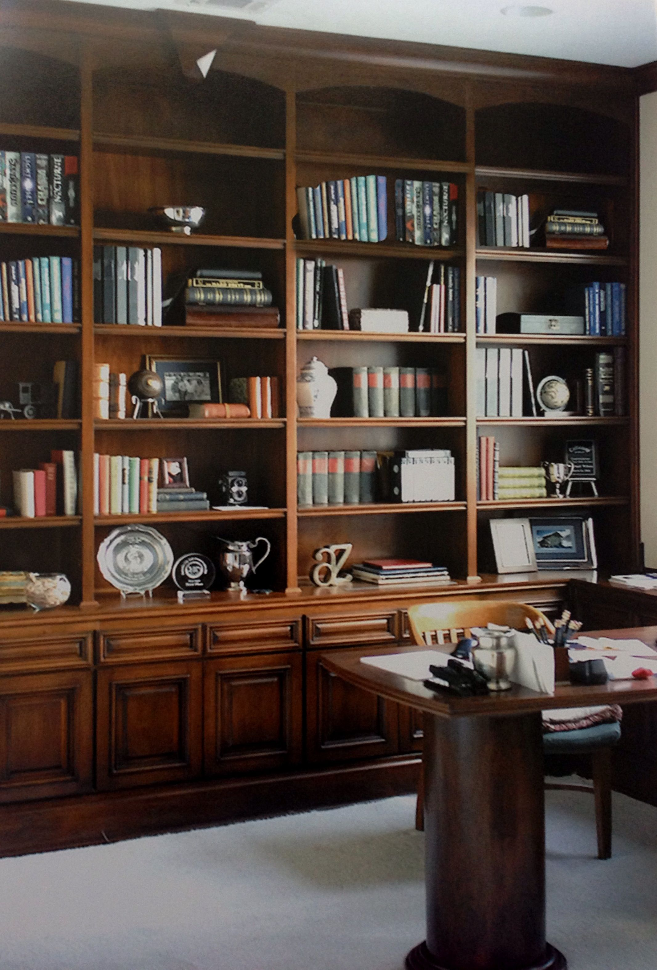 Custom Home Office Desk Bookcases Home Study Design Home