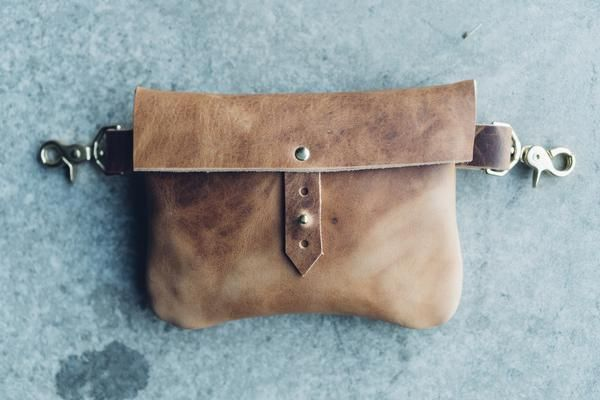 cf8bae2a922 part of our Horween Leather Co. collection    classic festival fanny pack  in essex rust leather    this bag can be worn as a hip bag (no strap, ...