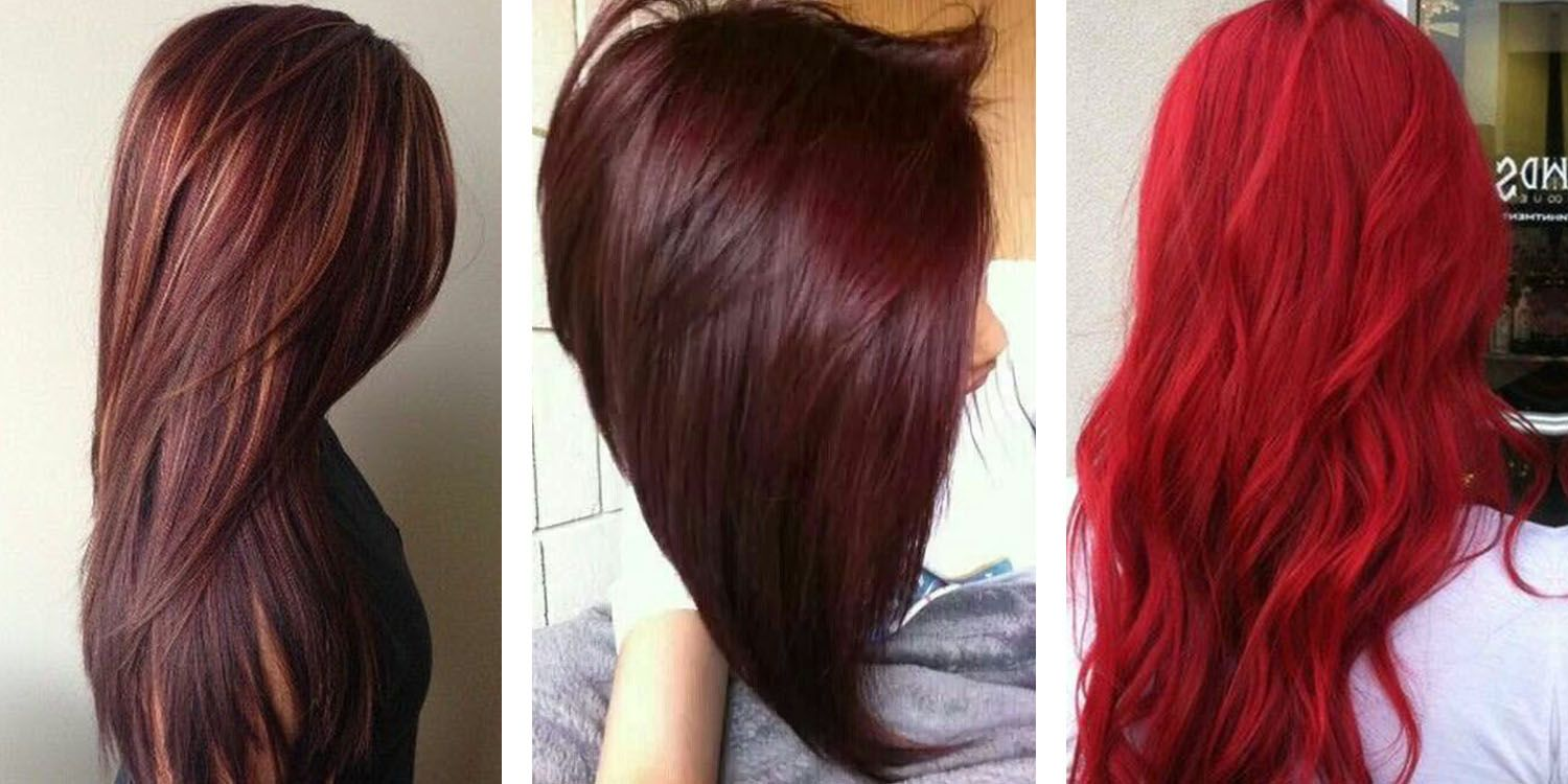 Middle Cherry Brown Hair Color Is A Blend Of Rosy Red And Rich Brown Choose This Shade If You Have Medi Red Hair Color Hair Color Chart Deep Red Hair Color