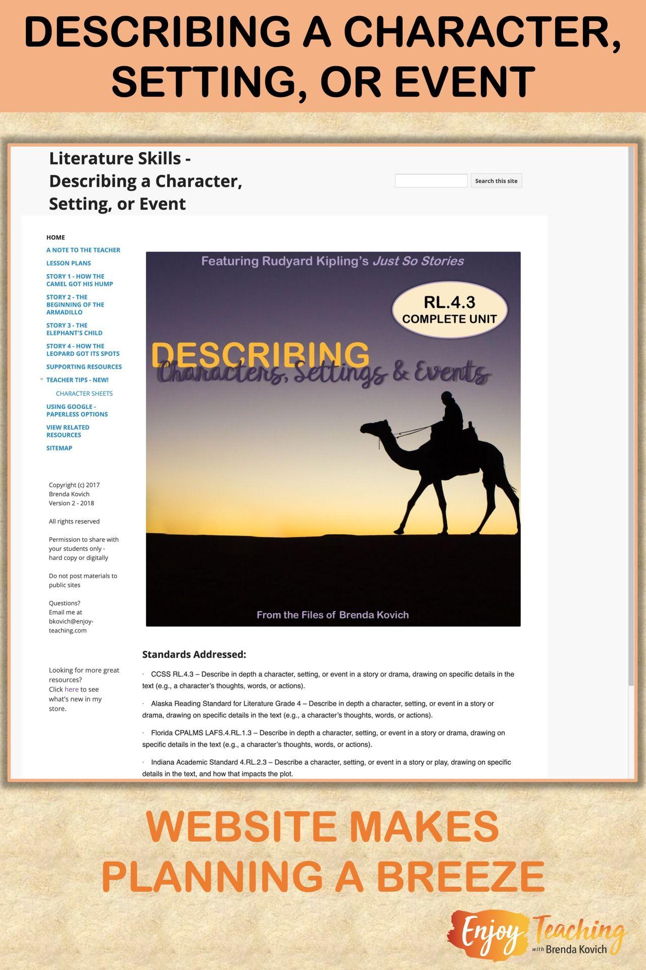 Enjoy Teaching Character Types