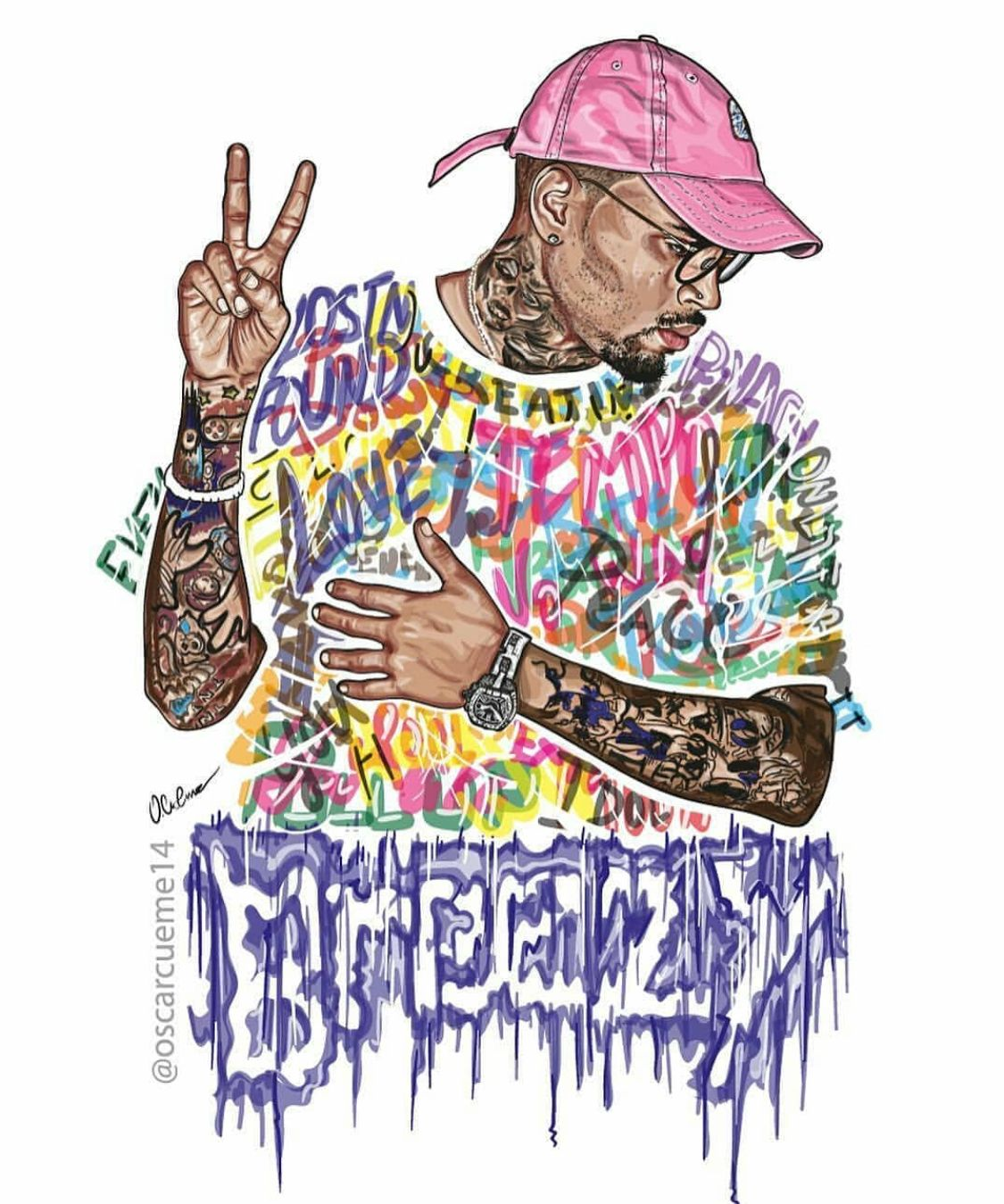 Pin By Makayla Wright On Chris Brown Chris Brown Art Chris Brown Drawing Chris Brown Wallpaper