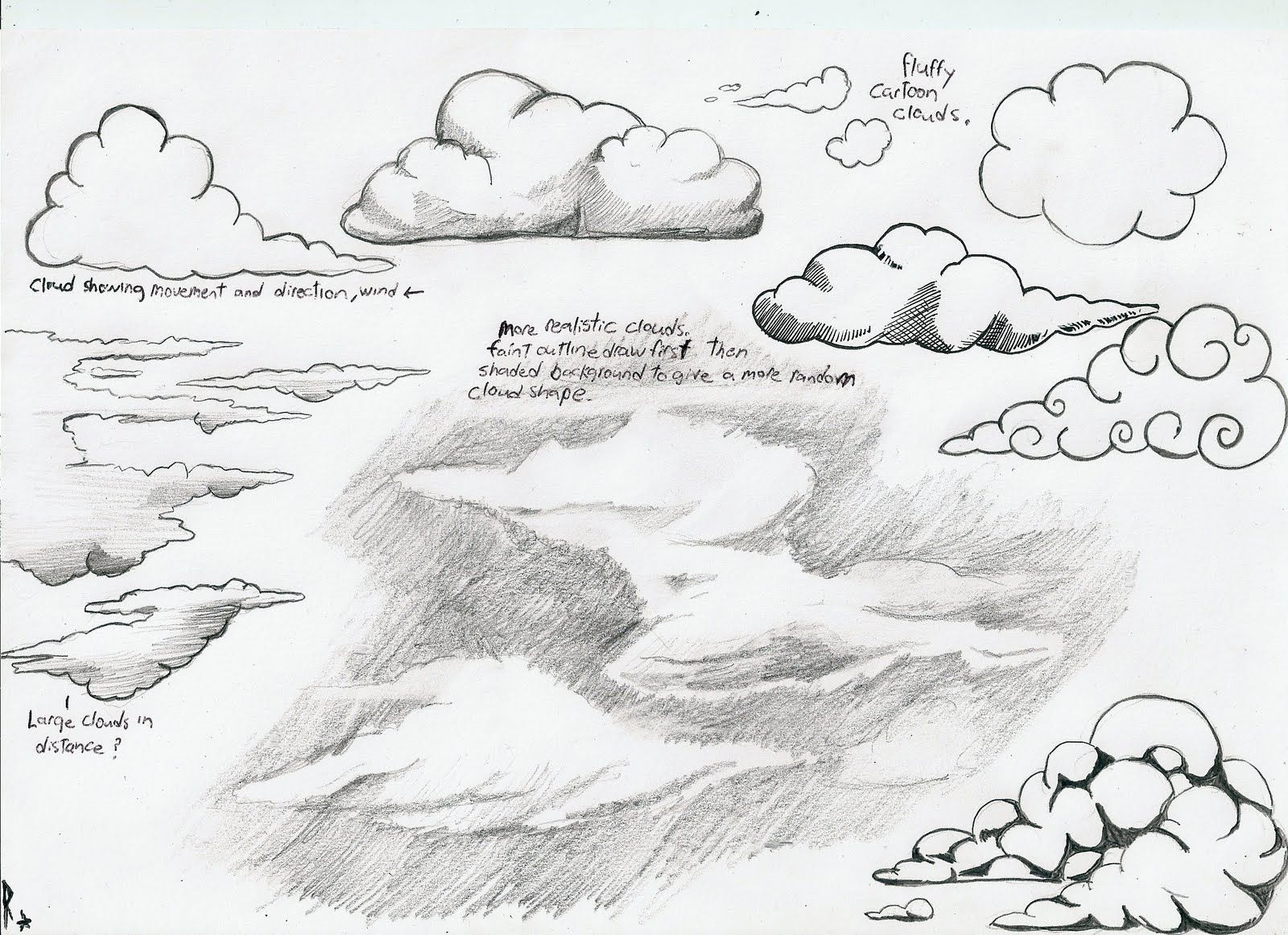 How To Draw Clouds Cloud Drawing Drawings Painting Drawing