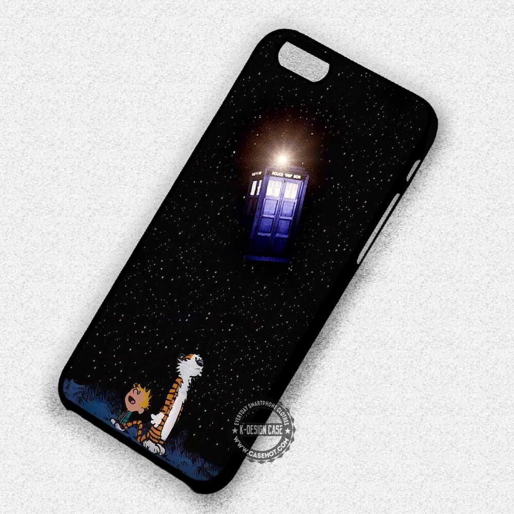 Calvin and Hobbes on Tardis on Galaxy iphone case