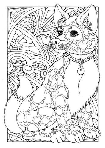 Kleurplaten Mandala Hond.Kleurplaat Hond Projecten Om Te Proberen Kleurplaten Dieren