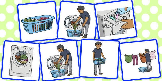 7 Step Sequencing Cards Washing Clothes Sequencing Cards