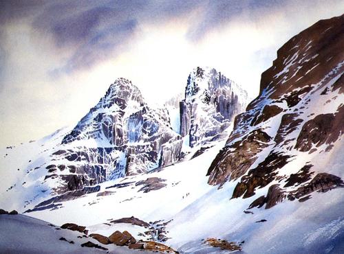 mountains watercolor - Google zoeken