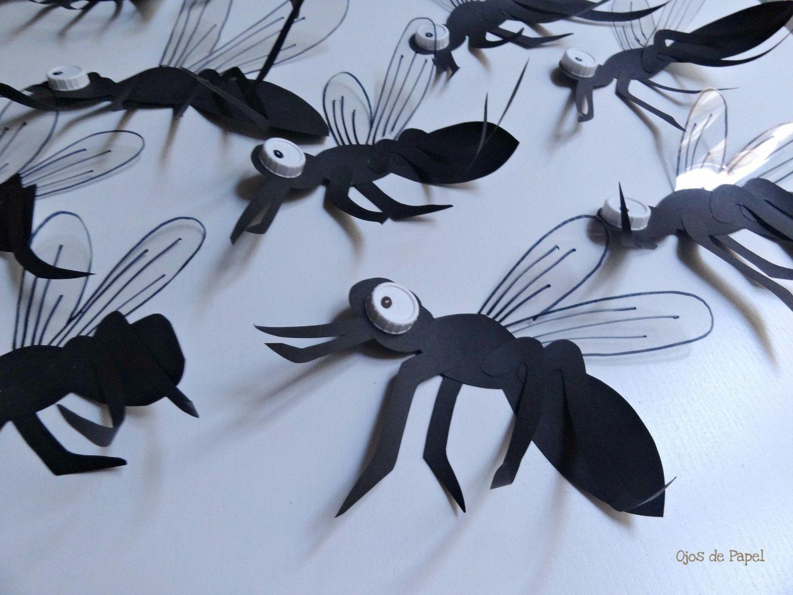 mosquitos reciclaje casa encendida ojos de papel | Trabajos Ojos de ...