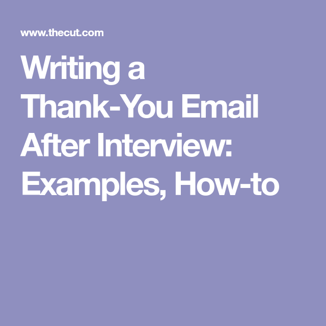 how to write a thankyou email after a job interview