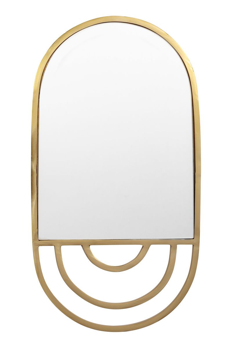 Gold Colored Oval Mirror In Glass With A Metal Frame Hanger At Back Size 9 1 X2f 4 X 17 1 X2f 4 In Metal Frame Mirror Mirror Frame Diy Mirror Frames