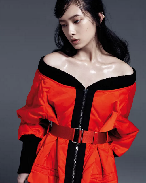 STOCKTON-JOHNSON IN ELLE CHINA RED