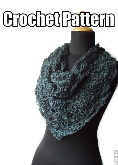 $4.00 lace shawl crochet pattern
