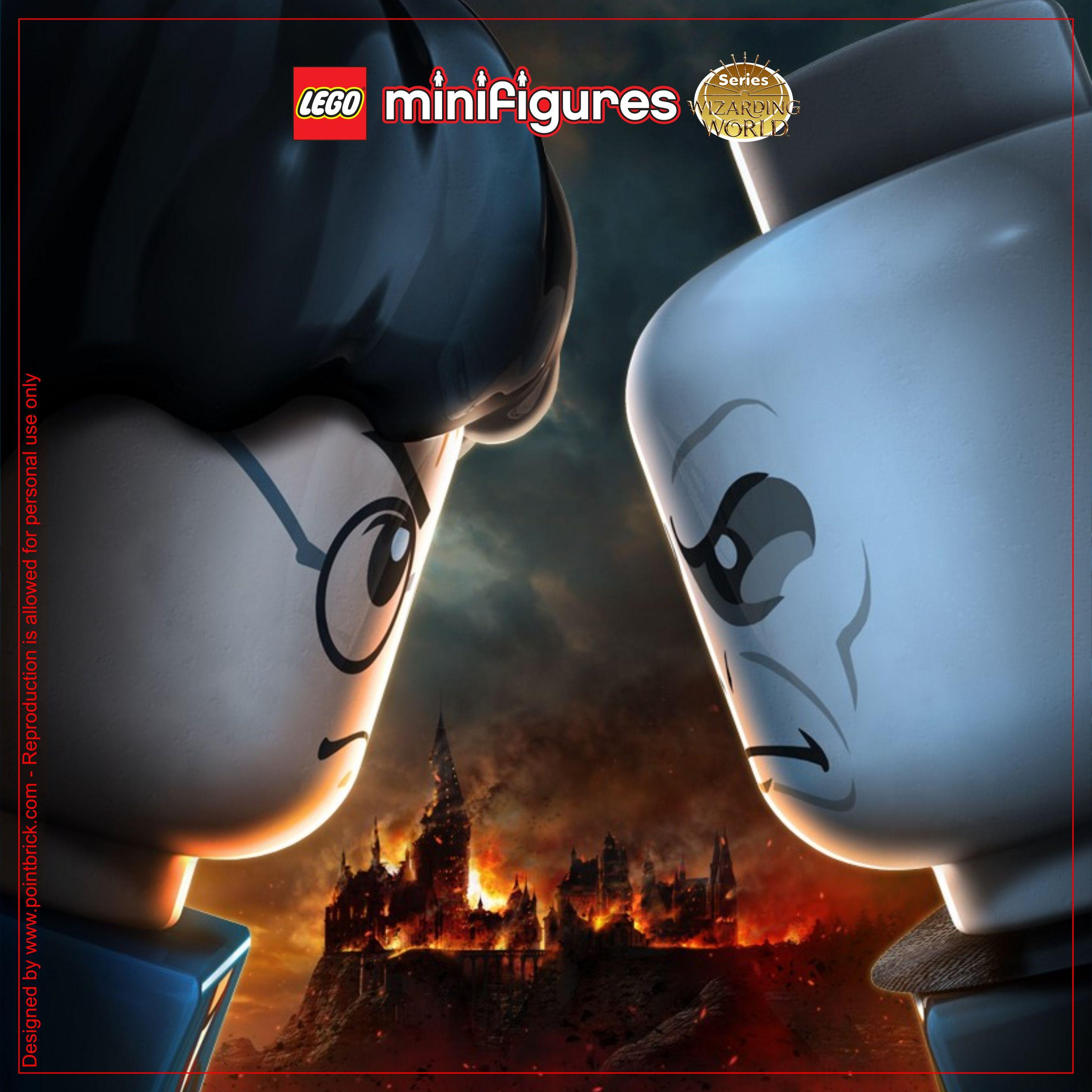 Lego Minifigures Display Sfondi Harry Potter Bastelideen Basteln Idee