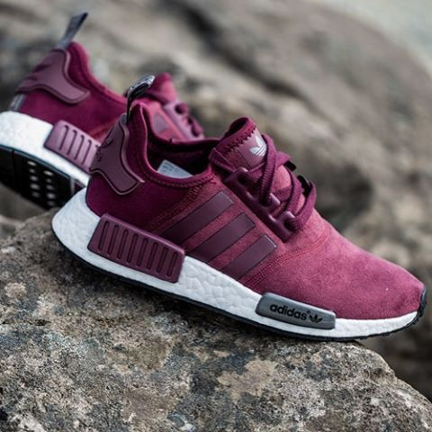 reputable site 763b5 dea58 where can i buy style no upc new adidas nmd maroon suede maroon maroon  solid grey