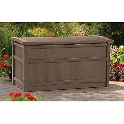 Outdoor Deck Storage Box Waterproof Pool Porch Patio Garden Furniture 50 Gallon Deck Box Storage Patio Storage