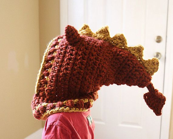 Red Dragon Hooded Cowl Dragon hat Adult Dragon Hat by dsgnGrl ...