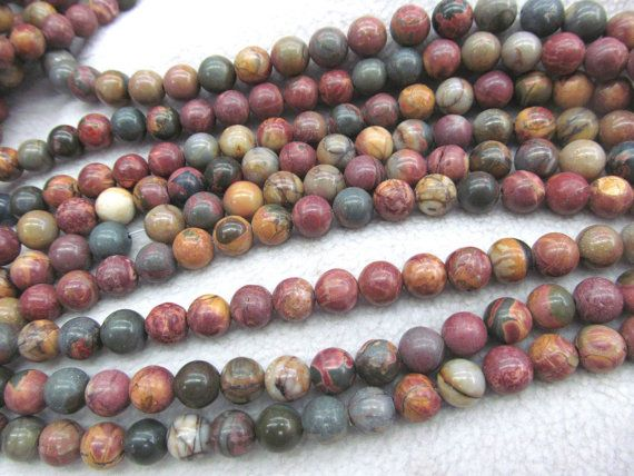 necklace 16inch Natural brown jasper Beads Genuine  Gemstone Round Ball Loose Beads  4mm 6mm 8mm 10mm  for earrings-bracelet