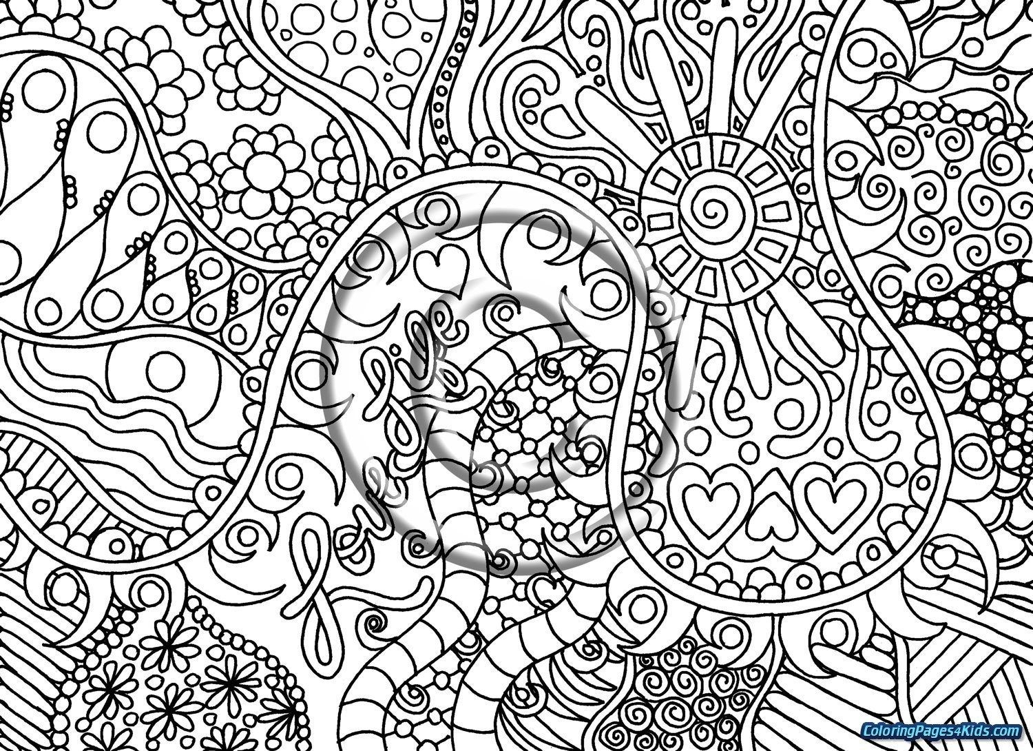 14++ Detailed trippy coloring pages for adults ideas