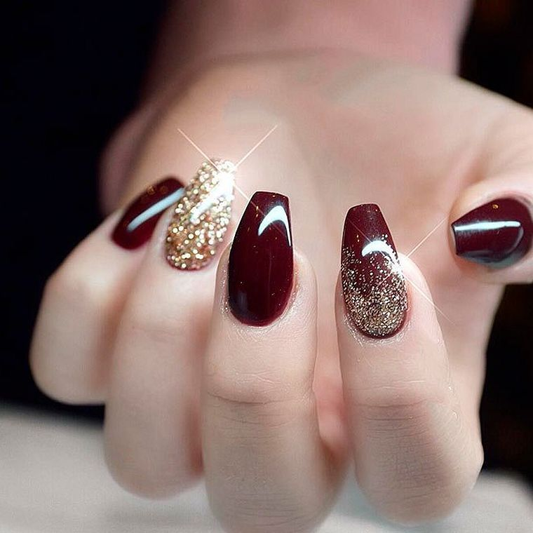 Amazing Burgundy Nail Designs You Have To Try In 2019 Burgundy Nails Burgundy Nail Designs Burgendy Nails