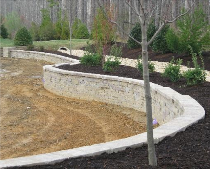 Retaining Wall In Front Of Concrete Ditch Google Search