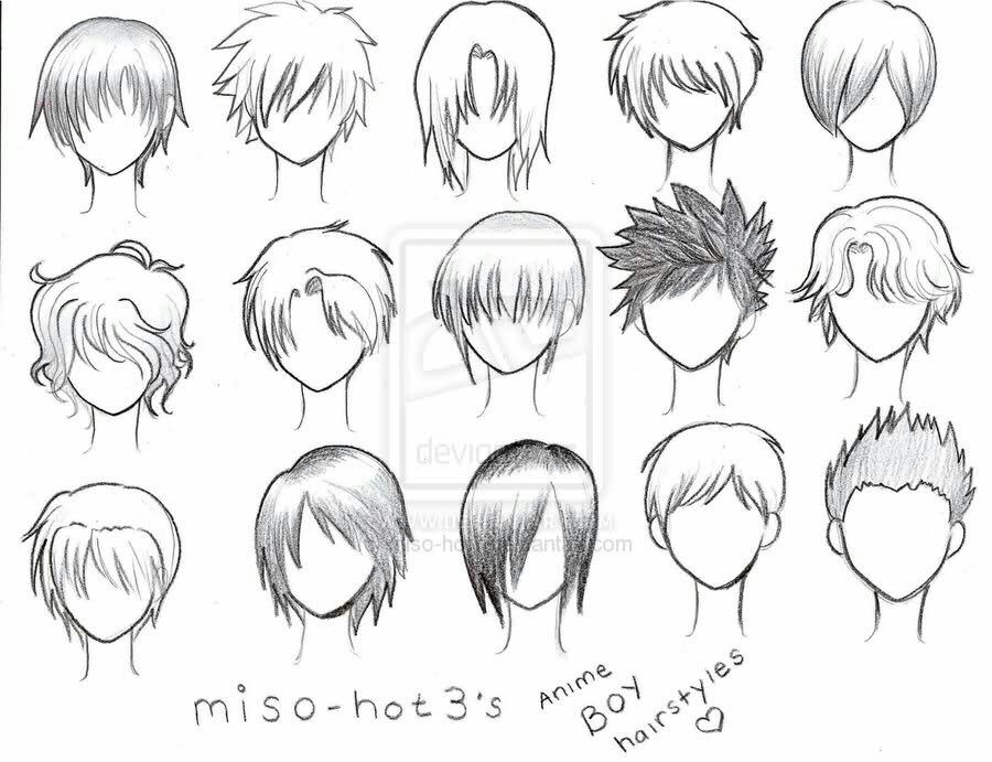 Anime Boy Hairstyles Text Male How To Draw Manga Anime