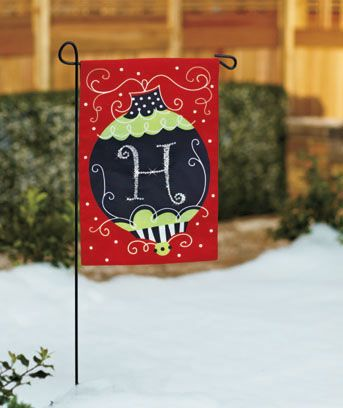 Holiday Monogram Garden Flags Christmas Ideas Pinterest Flags