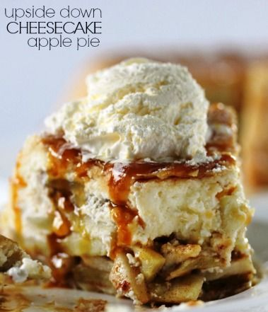 Upside Down Cheesecake Apple Pie Dessert recipes