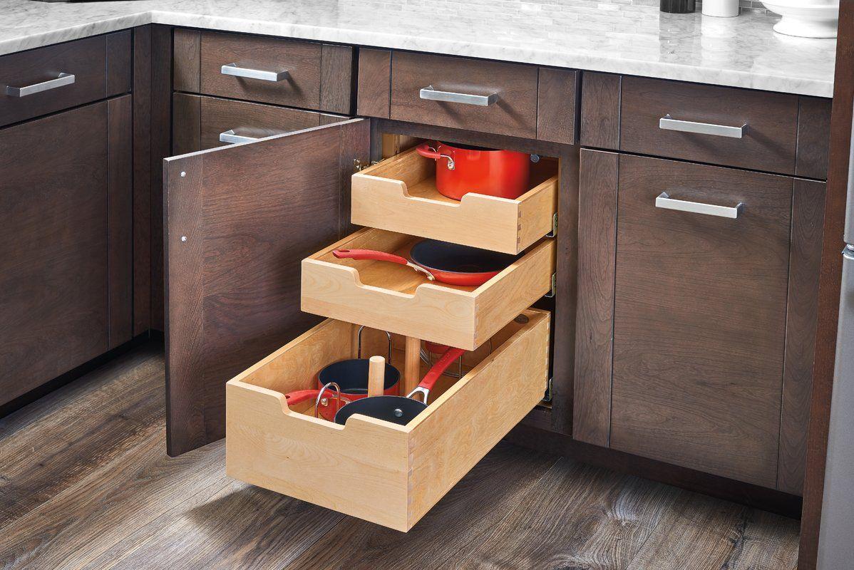 Adjustable Drawer Organizer Rev A Shelf Cabinets Organization Kitchen Cabinets Makeover