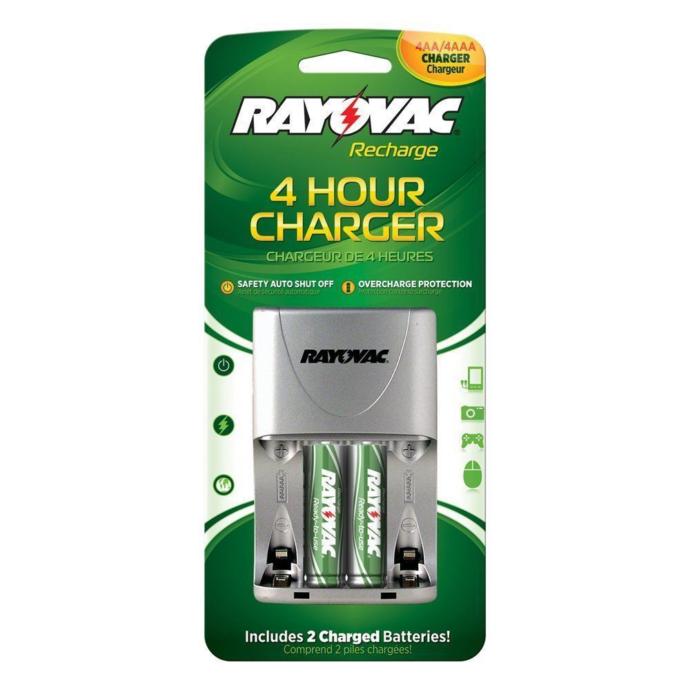 RAYOVAC PS133 4 Position AA//AAA Rechargeable Battery Charger