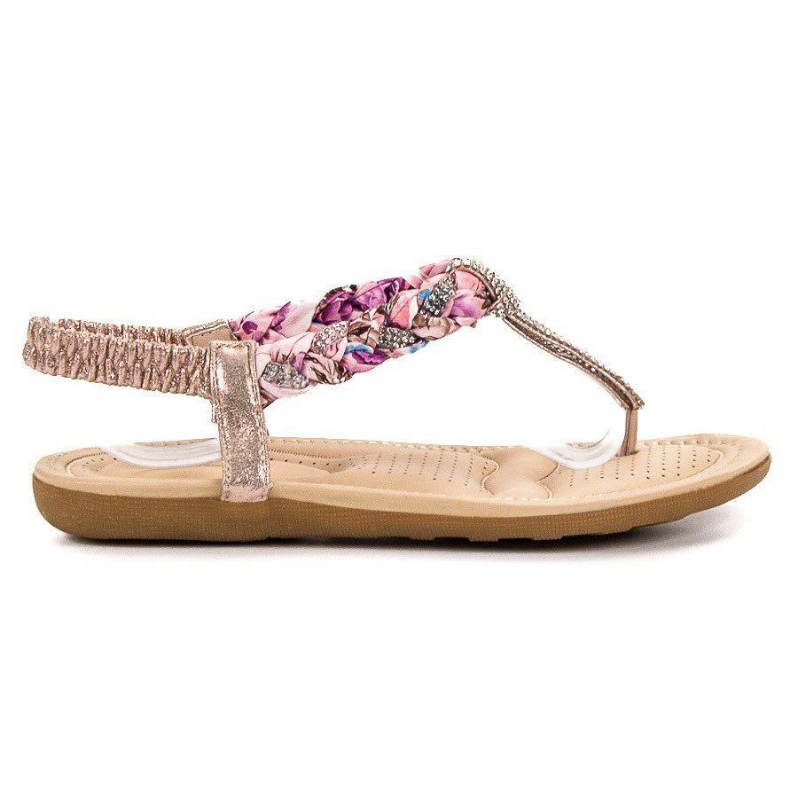 Cm Paris Modne Sandały Japonki różowe | Sandały, Japonki i Buty