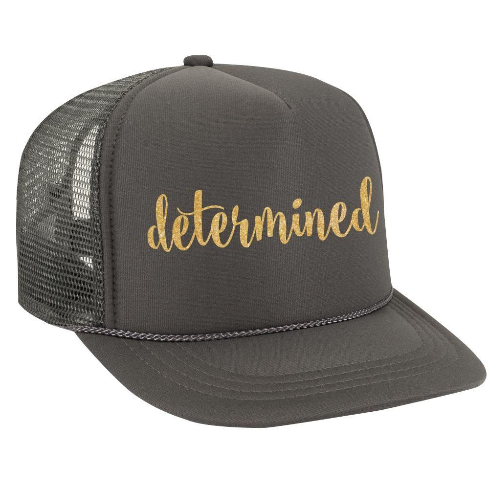DETERMINED Glitter Trucker Hat – Glitter Lids  76ec1a91907
