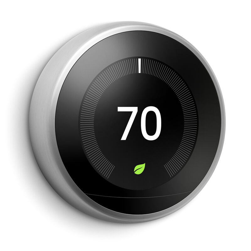 Google Nest Learning Thermostat Stainless Steel Nest Thermostat Nest Learning Nest Learning Thermostat