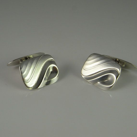 Sterling Cuff Links Sterling Cufflinks Vintage Cufflinks silver Cufflinks Silver cuff links mens cufflinks groom cufflinks gifts Men R2692