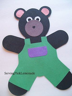 A Pocket For Corduroy Craft With Images Teddy Bear Crafts