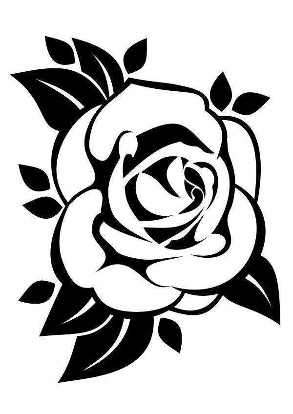 Szablon Malarski Do Wydrukowania Kwiat Rozy Szablony Malarskie Icgwqbv Jpg 600 848 Rose Outline Flower Drawing Fish Illustration